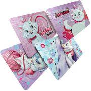 Kit 4 Quebra Cabeças Cartonados Gatinha Marie Disney 252 Pçs