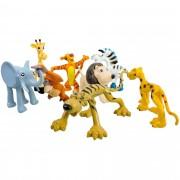 Kit 8 Animais Selvagens E Divertidos Brinquedo De Plástico