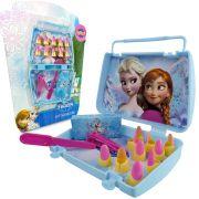 Kit Frozen 10 Unhas 1 Estojo 1 Lixa 1 Cortador de Unhas