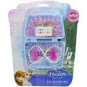 Kit Beleza Frozen Colar 12 Unhas Presilhas Disney Fantasias