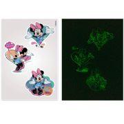 Kit 10 Cartelas Adesivos de Parede Brilha no Escuro Minnie Disney