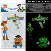 Kit C/10 Cartelas Adesivo Parede que brilha no Escuro Toy Story Disney