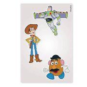 Kit 10 Cartelas Adesivos de Parede  Toy Story Disney