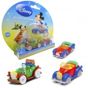 Kit c/ 3 Mini Carrinhos Pateta, Mickey e Pato Donald Diecast Disney Clássicos - Yellow