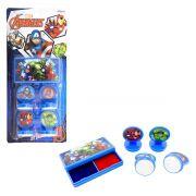 Kit Carimbos Infantil Vingadores Marvel - Etitoys