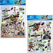Kit Com 2 Cartelas De Adesivos Alto Relevo Toy Story Disney