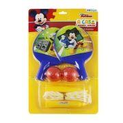 Kit com 2 Raquetes de Ping Pong e Pula Corda Mickey Disney
