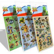 Kit Com 3 Cartelas De Adesivos Infantil Toy Story Disney