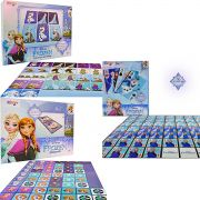 Kit Com 3 Jogos Memória Dominó E Mini Baralho Frozen Disney