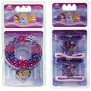Kit Com Colar e Maria Chiquinhas Infantil Princesas Disney