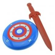 Kit com Espada e Escudo Coleção Heróis - Le Plastic