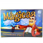 Kit de Mágicas com Acessórios 3 Dados Cartões Fichas Blocos