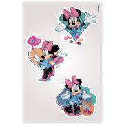 Kit Minnie 10 Cartelas Adesivos de Parede Minnie Disney