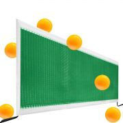 Kit Rede Tênis de Mesa Ping Pong Com Suporte e 6 Bolinhas