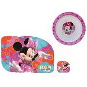 Kit Refeição Infantil com Tigela e Jogo Americano Minnie Disney