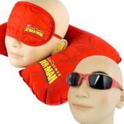Kit Viagem Spider Man Homem Aranha Óculos De Sol E Almofada