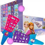 Lançador de Bolinhas Frozen mais Dominó Cartonado Disney