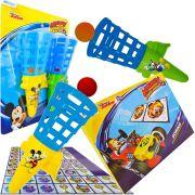 Lançador De Bolinhas Mickey Mais Dominó Cartonado Disney
