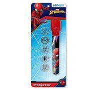 Lanterna Infantil Projetora De Imagens Homem Aranha Marvel