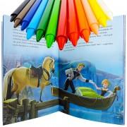 Livro Frozen de História e Atividades + 12 Gizes de Cera