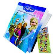 Livro Frozen de História e Atividades Dcl Disney  + Adesivo