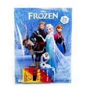 Livro Para Colorir Frozen Disney Mais 6 Giz De Cera