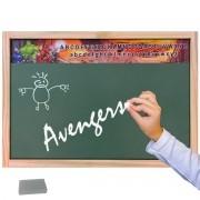 Lousa Verde Escolar Madeira Vingadores Marvel