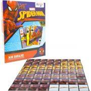 Mini Baralho Jogo de Cartas Spider-man 56 Cartas Marvel
