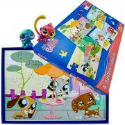Mini Bonecos Littlest Pet Shop Com 4 Quebra Cabeças Hasbro