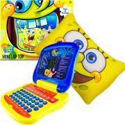Mini Laptop Infantil 32 Atividades Bob Esponja E Almofada