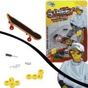 Mini Skate de Dedo com Acessórios Street Radical - Well Kids