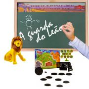 Miniatura Simba Lousa e Jogo de Futebol de Botão A Guarda do Leão Disney Junior