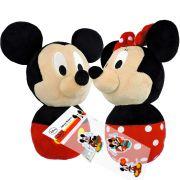 Minnie E Mickey Pelúcias Baby Disney + Adesivo Noturno