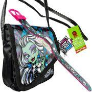 Monster High Relógio de Pulso Digital  mais Bolsinha Frankie