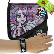 Monster High Relógio de Pulso Digital  mais Bolsinha Rochelle