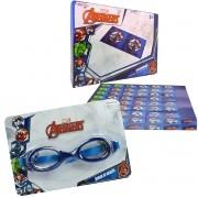 Óculos De Natação Infantil Vingadores Mais Dominó Cartonado
