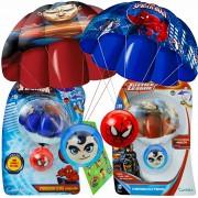 Paraquedas Homem Aranha E Superman Parachuters Super Heróis