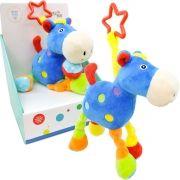 Pelúcia com Chocalho Infantil Cavalo Azul Unik Toys