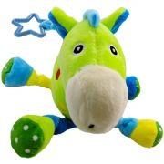 Pelúcia com Chocalho Infantil Cavalo Verde - Unik Toys