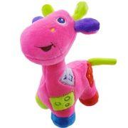 Pelúcia Com Chocalho Infantil Girafa Rosa - Unik Toys