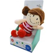 Pelúcia com Chocalho Infantil Menina Boneca Plush - Unik Toys