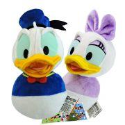 Pelúcia Pato Donald E Margarida Bonecos Disney  + Adesivo