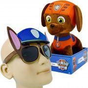 Pelúcia Patrulha Canina Zuma E Óculos De Sol Proteção Uv-400