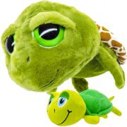 Pelúcia Tartaruga Grande 43 cm com Filhote