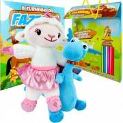 Pelúcias Doutora Brinquedos Ovelha Lambie E Felpudo + Livro