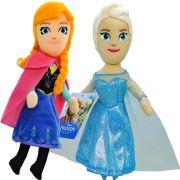 Pelúcias Frozen Anna E Elsa Bonecas Princesas Disney
