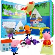 Peppa Pig 6 Bonecos Com Acessórios + Livro De Quebra-cabeças