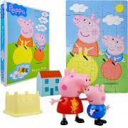 Peppa Pig Bonecos Com Acessórios Mais Quebra Cabeça