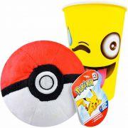 Pokemon Poké Bola De Pelúcia Poké Ball Importada Wct + Copo