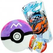 Pokemon Poké Bola Mestra De Pelúcia Poké Ball Master + Copo